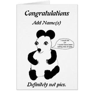 Enhorabuena en ser tarjeta de encargo embarazada