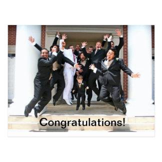 Enhorabuena en su boda postal