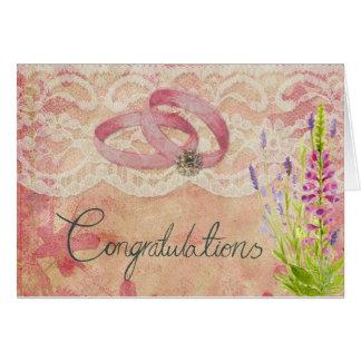 Enhorabuena en su boda tarjeta