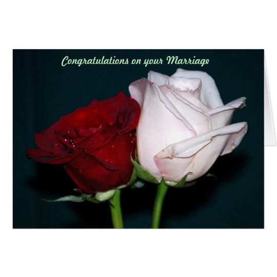 Enhorabuena en su boda tarjeta de felicitación