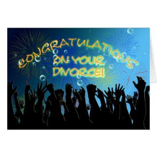 Enhorabuena en su divorcio tarjeta de felicitación
