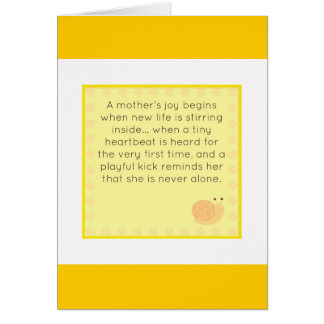 Enhorabuena en su embarazo tarjeta de felicitación