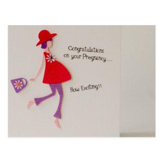 ¡enhorabuena en su embarazo! postal