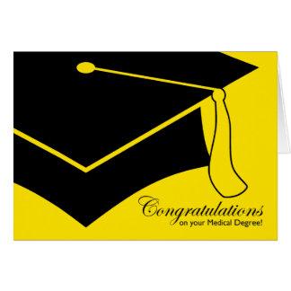 ¡enhorabuena en su grado médico! tarjeta de felicitación