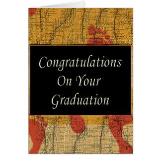 Enhorabuena en su graduación tarjeta