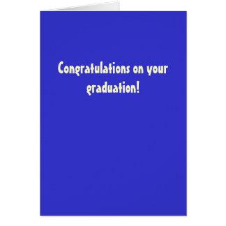 ¡Enhorabuena en su graduación! Tarjeta De Felicitación