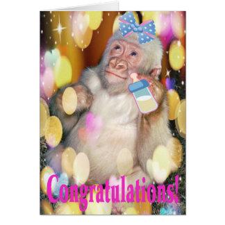 ¡Enhorabuena! ¡en su nueva niña! Tarjeta De Felicitación