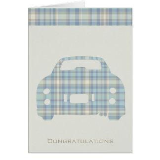 Enhorabuena en su nueva tarjeta de felicitación de