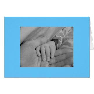 Enhorabuena en su nuevo bebé tarjeta de felicitación