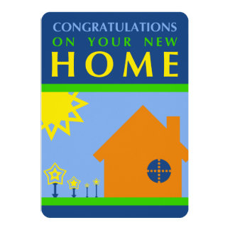 enhorabuena en su nuevo hogar (formas de la MOD) Invitación 12,7 X 17,8 Cm