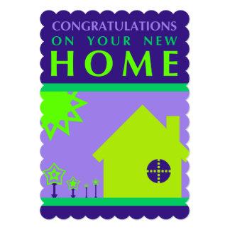 enhorabuena en su nuevo hogar (formas púrpuras) anuncios