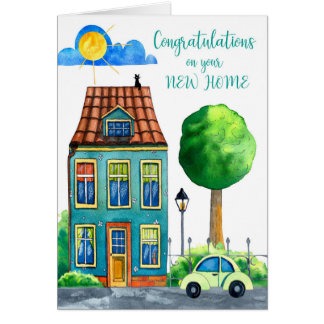 Enhorabuena en su nuevo hogar tarjeta
