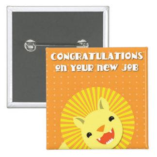 ¡Enhorabuena en su nuevo TRABAJO! león de la carre Chapa Cuadrada 5 Cm