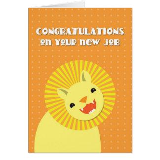 ¡Enhorabuena en su nuevo TRABAJO! león de la carre Tarjeta