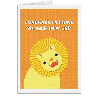 ¡Enhorabuena en su nuevo TRABAJO! león de la carre Tarjeta De Felicitación