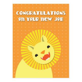 ¡Enhorabuena en su nuevo TRABAJO! león de la carre Tarjetas Postales