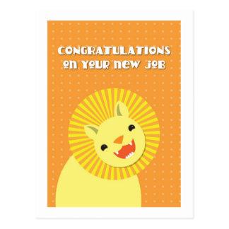 ¡Enhorabuena en su nuevo TRABAJO! león de la Postal