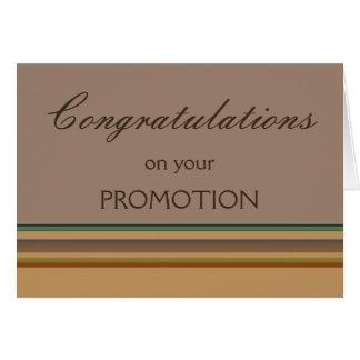 Enhorabuena en su promoción tarjeta pequeña