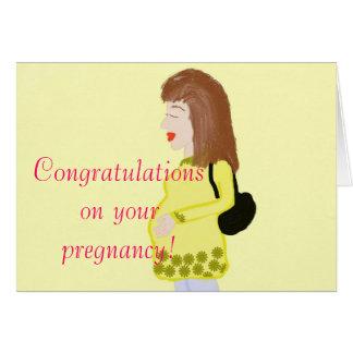 Enhorabuena en su tarjeta de felicitación del emba