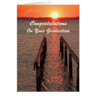 Enhorabuena en su tarjeta de la calzada de la grad
