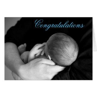 Enhorabuena en su tarjeta del bebé