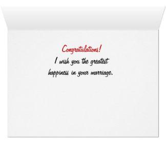 Enhorabuena en su tarjeta del compromiso