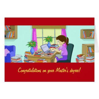 Enhorabuena en su tarjeta del masters