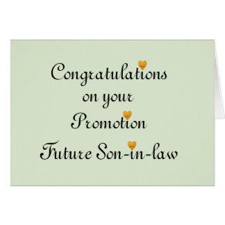 Enhorabuena en su yerno del futuro de la promoción tarjeta de felicitación
