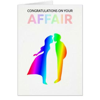 Enhorabuena en tarjeta de su asunto