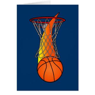 Enhorabuena en una gran temporada de baloncesto tarjeta de felicitación