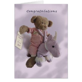 Enhorabuena-es un muchacho tarjeta de felicitación