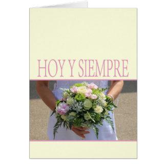 Enhorabuena española del boda tarjeta de felicitación