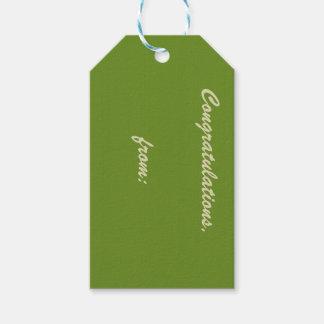Enhorabuena Espárrago-Coloreada (escritura del Etiquetas Para Regalos