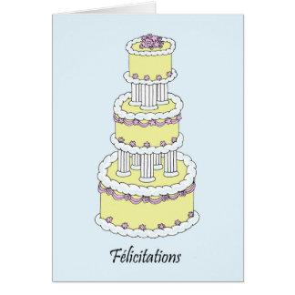Enhorabuena francesa del boda de Félicitations Tarjeta De Felicitación