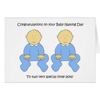 Enhorabuena gemela del día de nombramiento del tarjeta de felicitación