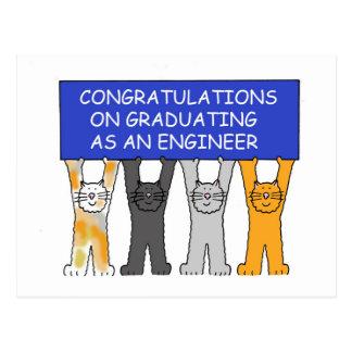 Enhorabuena graduada del ingeniero postal