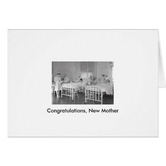 Enhorabuena, nueva madre tarjeton