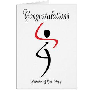 Enhorabuena para el soltero de la kinesiología tarjeta de felicitación