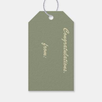 Enhorabuena sabia (escritura del oro) etiquetas para regalos