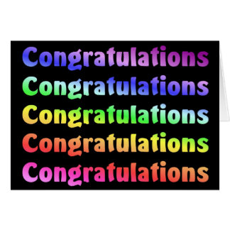 Enhorabuena Tarjeta