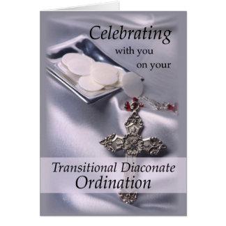 Enhorabuena transitoria de la ordenación del tarjeta de felicitación