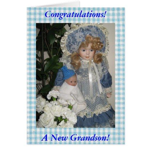 Enhorabuena un nuevo nieto felicitación
