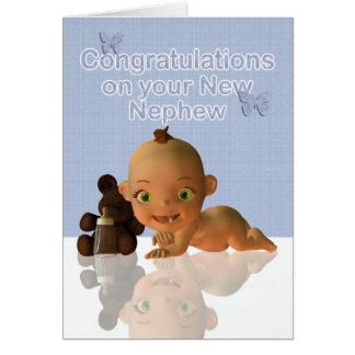 Enhorabuena una tía hermosa tía del bebé tarjeta de felicitación