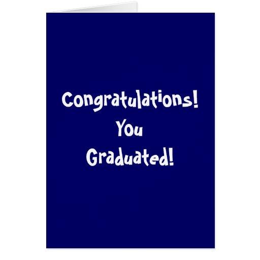 ¡Enhorabuena! ¡YouGraduated! Felicitacion