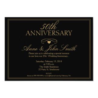 Ennegrezca la 50.a invitación del aniversario de invitación 11,4 x 15,8 cm