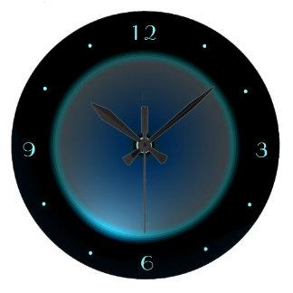 Reloj Redondo Grande Ennegrézcase con el reloj iluminado del >Wall del