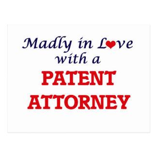 Enojado en amor con un abogado de patentes postal