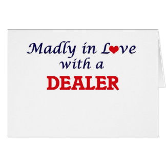 Enojado en amor con un distribuidor autorizado tarjeta de felicitación