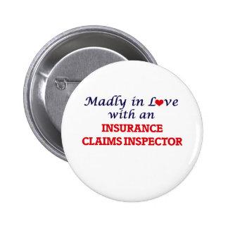 Enojado en amor con un inspector del crédito de chapa redonda de 5 cm