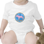 Enredadera de moda del bebé de bull terrier trajes de bebé